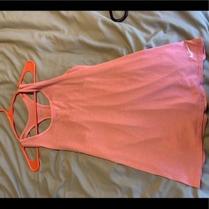 Nike pink medium tank